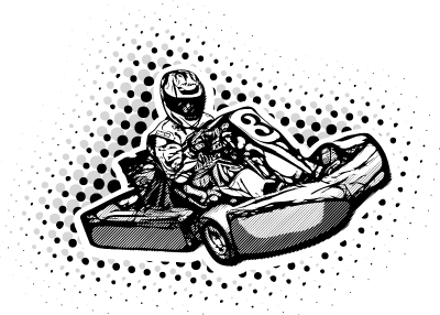 133348592 - Go Kart Racer Illustration © Martin Cintula